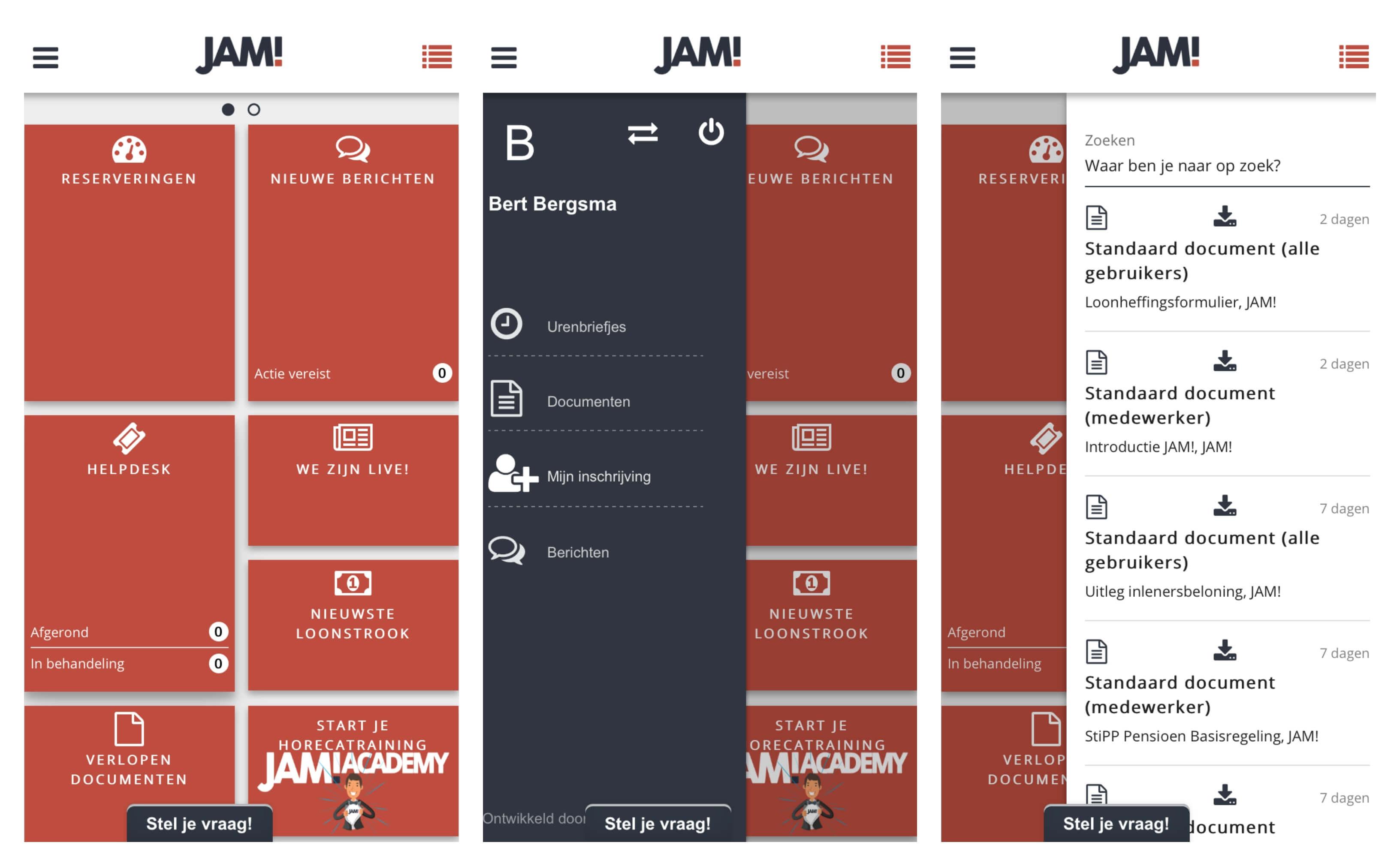 Screenshots MyJAM!